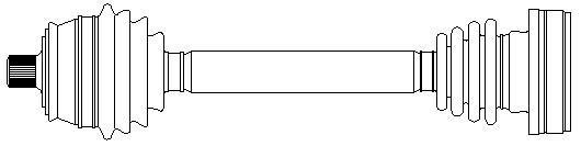Slika METELLI - 17-0186 - Pogonsko vratilo (Pogon točkova)