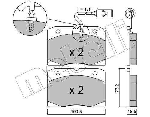 Slika METELLI - 22-0051-2 - Komplet pločica, disk-kočnica (Kočioni uređaj)
