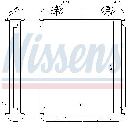 Slika NISSENS - 73341 - Izmenjivač toplote, grejanje unutrašnjeg prostora (Grejanje/ventilacija)