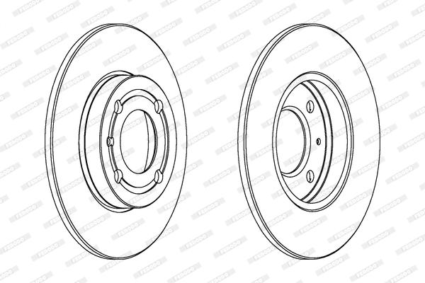 Slika FERODO - DDF795 - Kočioni disk (Kočioni uređaj)