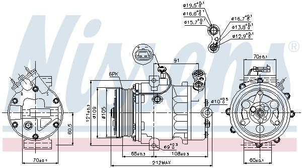 Slika NISSENS - 89095 - Kompresor, klima-uređaj (Klima-uređaj)