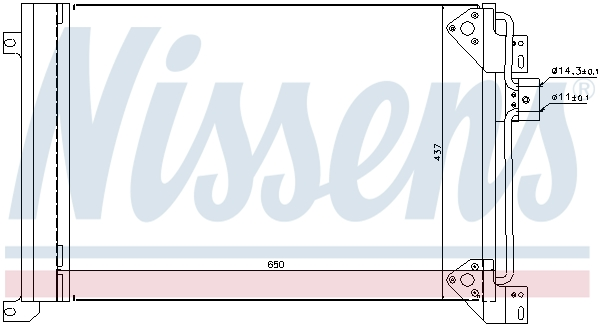 Slika NISSENS - 94713 - Kondenzator, klima-uređaj (Klima-uređaj)
