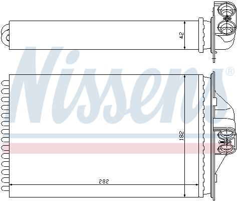 Slika NISSENS - 70975 - Izmenjivač toplote, grejanje unutrašnjeg prostora (Grejanje/ventilacija)