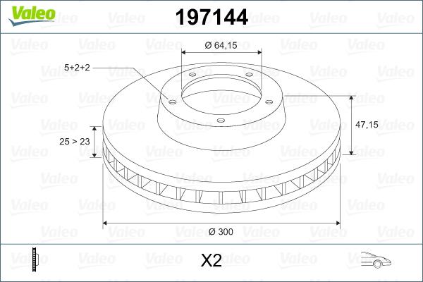 Slika VALEO - 197144 - Kočioni disk (Kočioni uređaj)