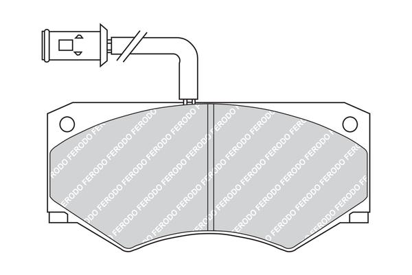 Slika FERODO - FVR709 - Komplet pločica, disk-kočnica (Kočioni uređaj)