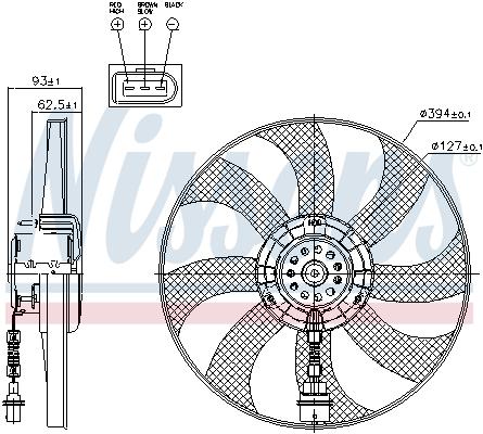Slika NISSENS - 85549 - Ventilator, hlađenje motora (Hlađenje)