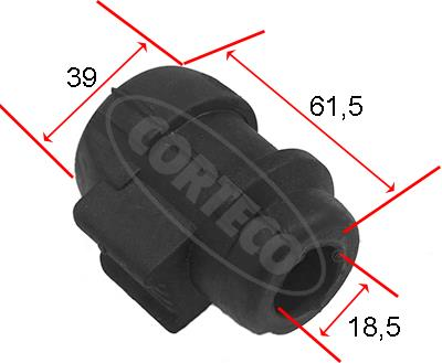 Slika CORTECO - 80001465 - Guma balans štangle (Vešanje točkova)