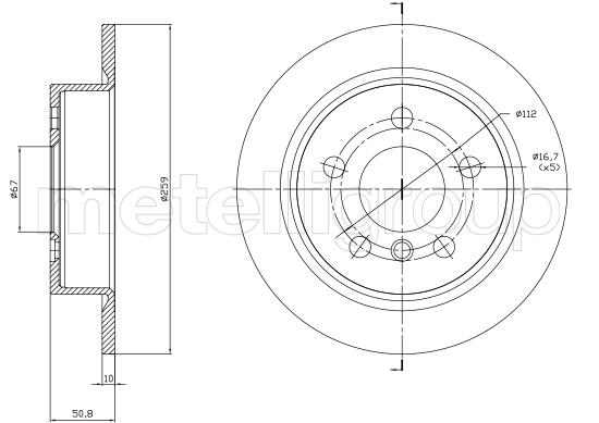 Slika METELLI - 23-1771C - Kočioni disk (Kočioni uređaj)