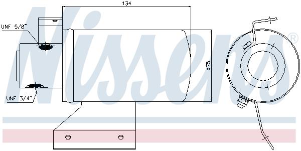 Slika NISSENS - 95053 - Sušač, klima-uređaj (Klima-uređaj)