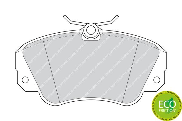 Slika FERODO - FDB686 - Komplet pločica, disk-kočnica (Kočioni uređaj)
