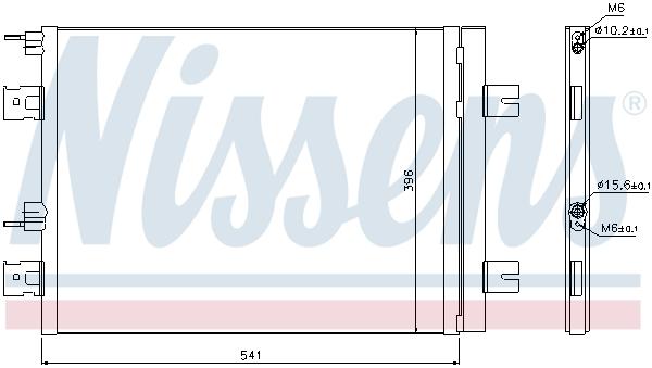 Slika NISSENS - 940262 - Kondenzator, klima-uređaj (Klima-uređaj)