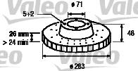 Slika VALEO - 186702 - Kočioni disk (Kočioni uređaj)
