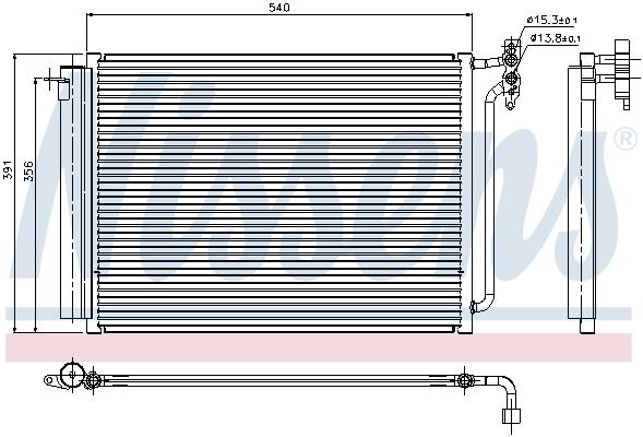Slika NISSENS - 94605 - Kondenzator, klima-uređaj (Klima-uređaj)