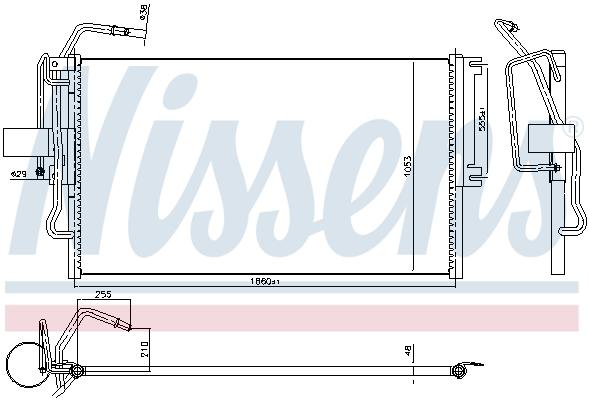 Slika NISSENS - 94653 - Kondenzator, klima-uređaj (Klima-uređaj)