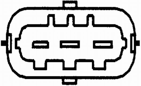 Slika HELLA - 6PU 012 681-011 - Senzor, položaj bregastog vratila (Priprema smese)