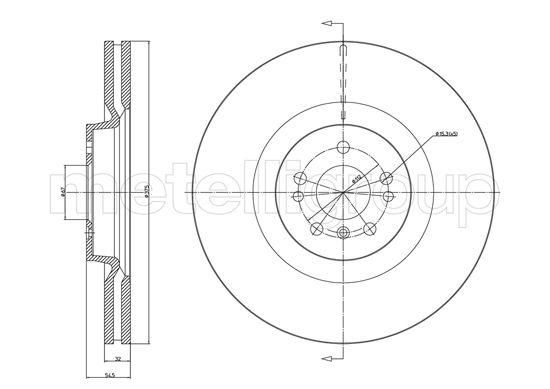 Slika METELLI - 23-1206C - Kočioni disk (Kočioni uređaj)