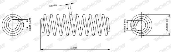 Slika MONROE - SP2082 - Opruga trapa (Vešanje/amortizovanje)