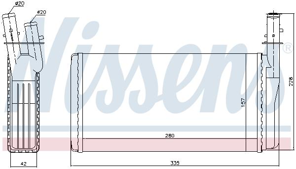 Slika NISSENS - 70016 - Izmenjivač toplote, grejanje unutrašnjeg prostora (Grejanje/ventilacija)