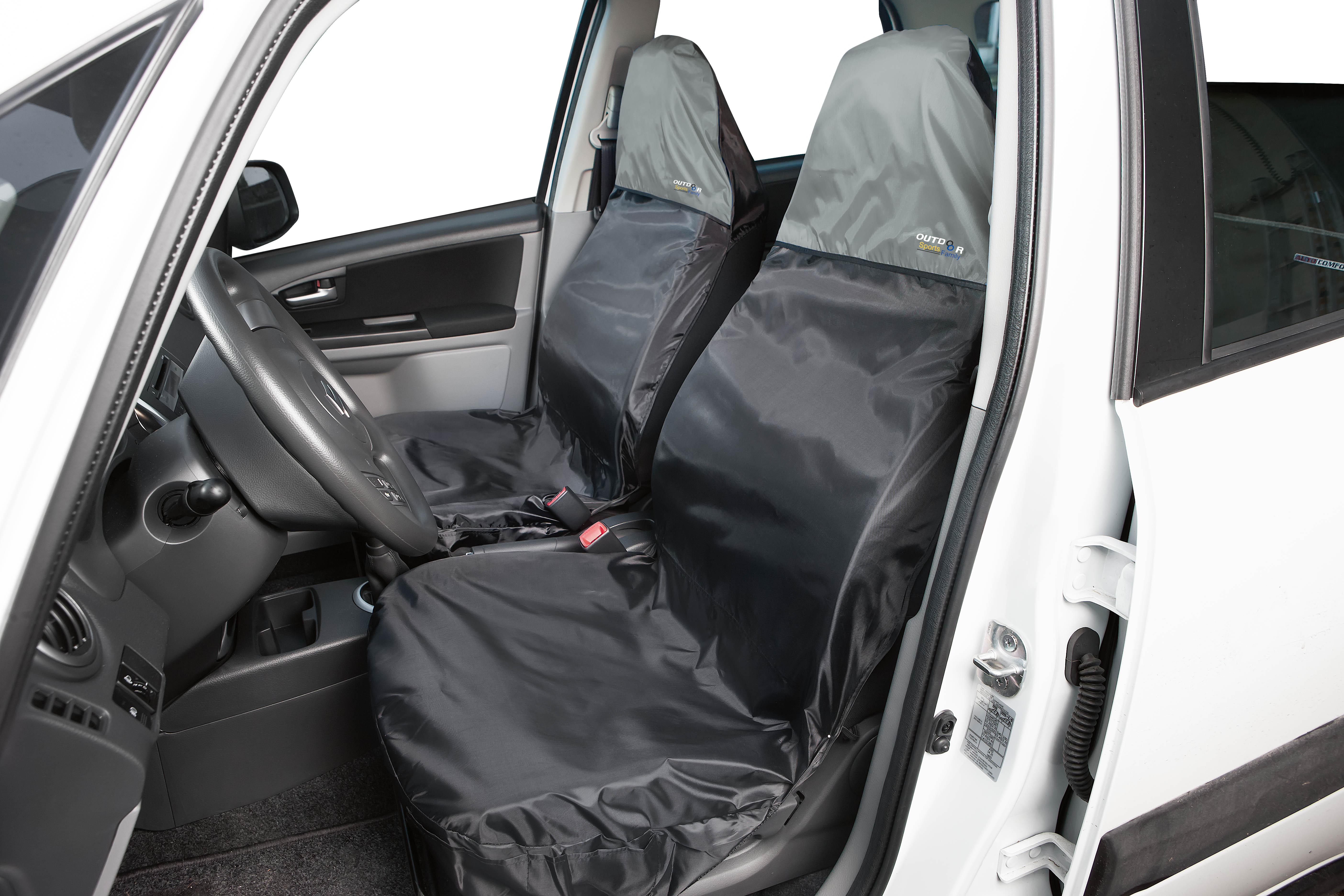 Picture of Walser Polyester Protective Seat Cover - Black Grey