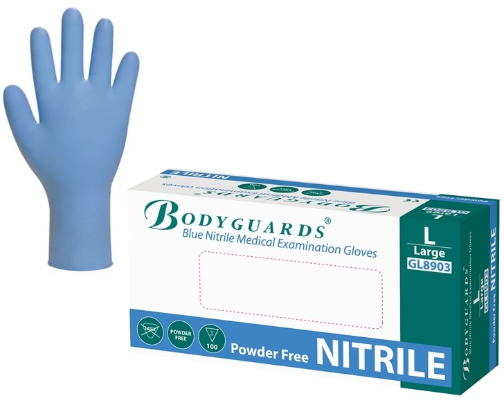 Picture of Bodyguards Blue Nitrile Disposable