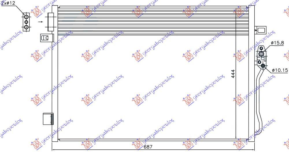 Slika GBG - 291606410 - Isparivač, klima-uređaj (Klima-uređaj)